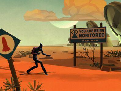 """Agenten-Schleichspiel in ungewöhnlicher Optik. In """"Counterspy"""" muss der Spieler die atomare Vernichtung des Mondes verhindern."""