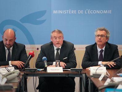 L'annonce qui n'a pas eu lieu. La naissance officielle du Luxembourg Future Fund, présidé par Patrick Nickels (au centre) n'a pas été orchestrée médiatiquement. La photo date de la présentation d'instruments de la SNCI en octobre. l