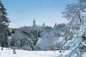 Die Stadt Luxemburg im Schnee - ein schöner Anblick, oder?