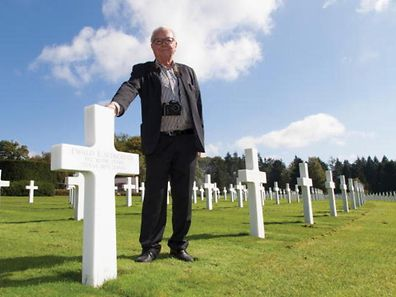 Nico Schroeder at the Luxembourg American Military Cemetery in Hamm