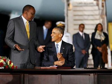 Kenya's President Uhuru Kenyatta and U.S. President Barack Obama