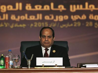 Egyptian President Abdel Fattah al-Sisi at the opening meeting of the Arab Summit in Sharm el-Sheikh