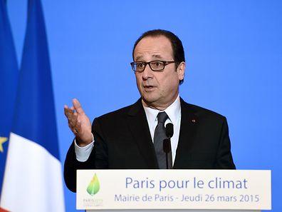 François Hollande à Paris, le jeudi 26 mars 2015
