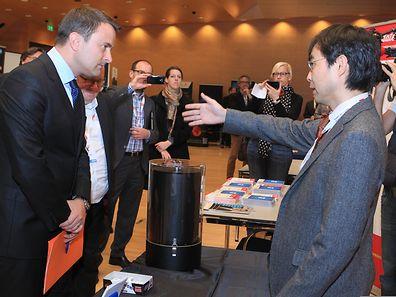 Le Premier ministre, Xavier Bettel, a profité du premier jour des Internet Days pour s'informer des dernières nouveautés