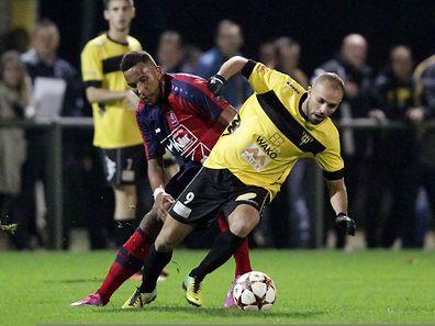 Hakim Menaï a marqué le premier but de la soirée à Niederkorn.