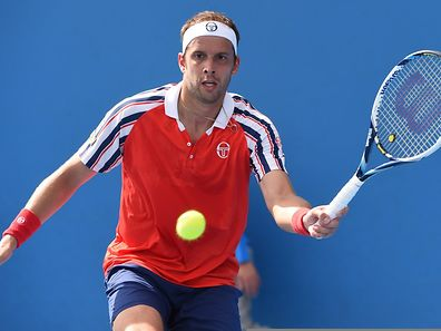 Gilles Muller during his match against Roberto Bautista Agut
