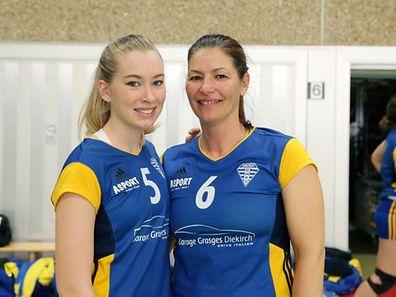 Claudine Grasges-Maller und ihre Tochter Joanne Delles geben für Diekirch alles.