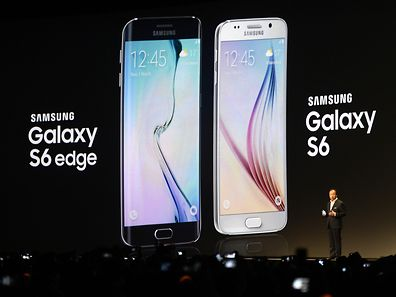 Samsung Electronics President and CEO JK Shin presents the Samsung Galaxy S6 during the 2015 Mobile World Congress in Barcelona on March 1, 2015. The 2015 Mobile World Congress, where participants can attend conferences and discover cutting-edge products and technologies, is the world's biggest mobile fair and is held from March 2 to 5 in Barcelona.