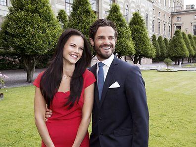 Carl Philip (re.) und seine Verlobte Sofia Hellqvist