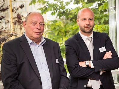Michel Vansimpsen, le p.-d.g. d'Ibakus, et le responsable de la société pour les marchés belge et luxembourgeois, Thomas de Callataÿ, Lex Kleren