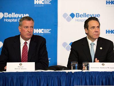 New York City Mayor Bill DeBlasio & Governor Andrew Cuomo of New York confirm Ebola case