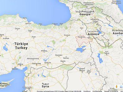 La région d'Agri, près de la frontière avec l'Arménie.