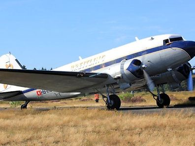 The Breitling DC-3 Dakota that will touch down in Findel on May 2