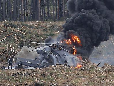 Laut Augenzeugen ist ein technischer Defekt des hinteren Propellers vermutlich die Unfallursache.