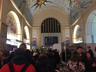 No trains for an hour at Luxembourg's central station