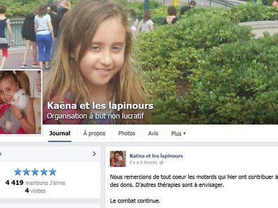Kaëna stehen weitere Behandlungen bevor. Der Hirntumor konnte nicht komplett entfernt werden.