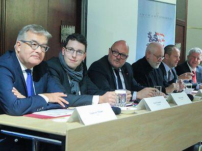 Laurent Mosar, Sven Clement, Marc Angel, Paul Schonenberg, Claude Radoux & Roy Reding (l.t.r)