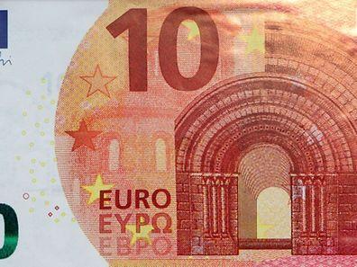 Der neue Zehn-Euro-Schein wird ab Dienstag im Umlauf sein.