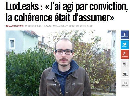Δίωξη κατά του πληροφοριοδότη των Luxleaks...