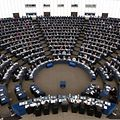 Members of the European Parliament take part in a voting session on November 27