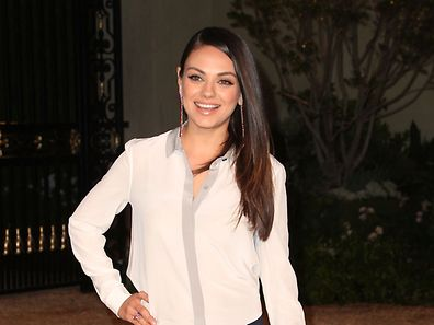 "LOS ANGELES, CA - APRIL 16: Actress Mila Kunis attends the Burberry ""London in Los Angeles"" event at Griffith Observatory on April 16, 2015 in Los Angeles, California.   David Buchan/Getty Images/AFP == FOR NEWSPAPERS, INTERNET, TELCOS & TELEVISION USE ONLY =="