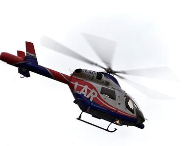 Illustration photo of a Luxembourg Air Rescue helicopter