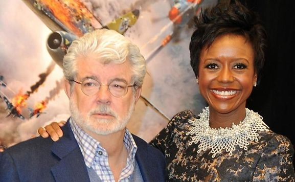 George Lucas und seine Frau Mellody freuen sich über ein Mädchen.