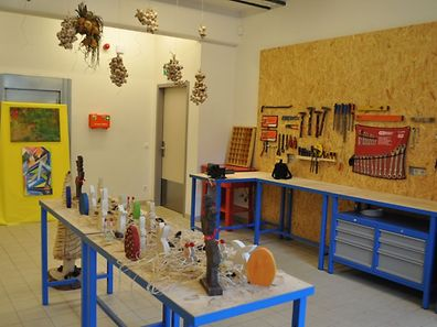 the arts and crafts workshop at the new centre