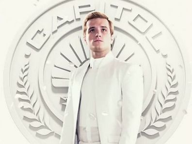 "In ""Hunger Games 3,"" Peeta is held captive by the Capitol and his image is used for propaganda purposes."