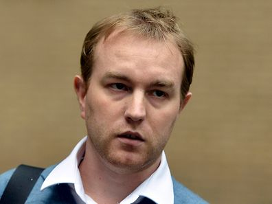 A file photo shows former trader Tom Hayes leaving Southwark Crown Court in London in October 2013