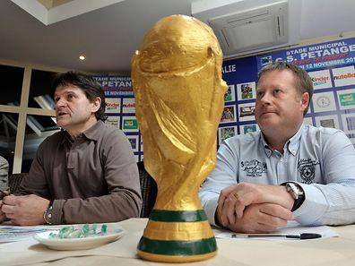 Pascal Wagner (à dr.) n'entend certes pas remporter la Coupe du monde avec Pétange, mais une victoire de prestige sur Rodange lui ferait le plus grand des plaisirs