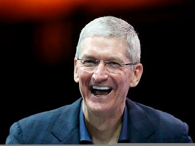 Le p.-d.g. d'Apple; Tim Cook, le 27 octobre 2014