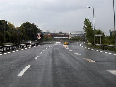 Sur l'A4, à hauteur de Merl