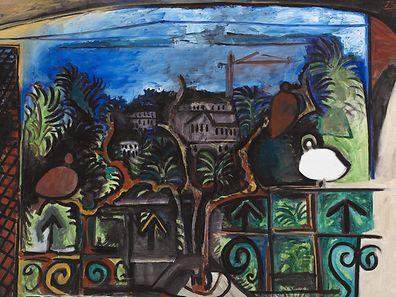 Tableau de Pablo Picasso, Paysage de Cannes au Crépuscule, 1960. Huile sur toile, 130 x 195cm