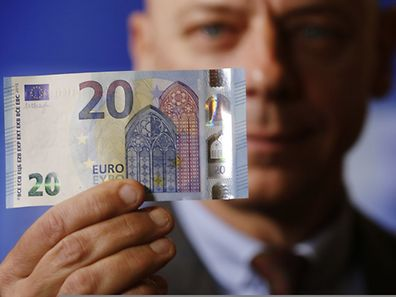 A new 20 Euro banknote is presented at the Austrian national bank in Vienna February 24, 2015.