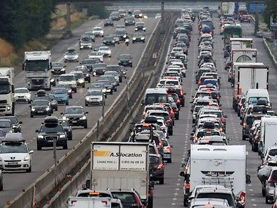 L'A7 entre Vienne et Valence en ce samedi 1er août.