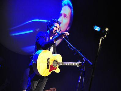 David Fonseca actuou pela primeira vez no Luxemburgo, no sábado, no Casino 2000 em Mondorf