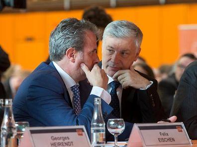 CSV-Fraktionschef Claude Wiseler (r.) und der Abgeordnete Felix Eischen sind verärgert über die Anspielungen von Premier Bettel gegen die CSV.