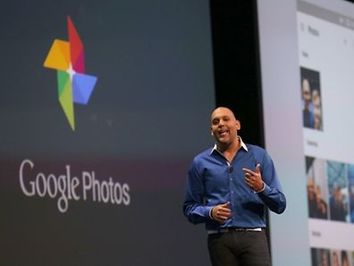 SAN FRANCISCO, CA - MAY 28: Google Photos director Anil Sabharwal announces Google Photos during the 2015 Google I/O conference on May 28, 2015 in San Francisco, California. The annual Google I/O conference runs through May 29.   Justin Sullivan/Getty Images/AFP == FOR NEWSPAPERS, INTERNET, TELCOS & TELEVISION USE ONLY ==