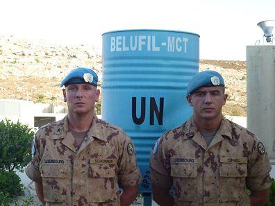 V.l.n.r. Sergent-Chef Christophe Schommer und Soldat-Chef Ismaili Qendrim