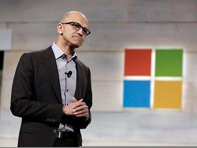 Microsoft-CEO Satya Nadella hatte zur Pressekonferenz eingeladen, um die Neuheiten von Windows 10 vorzustellen.