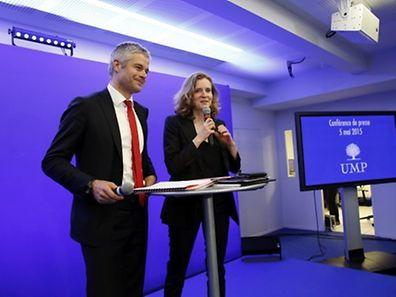 Generalsekretär Laurent Wauquiez und Vize-Präsidentin Nathalie Kosciusko-Morizet präsentieren die neue Parteistrategie.