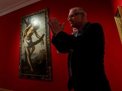 Kunstpalast-Direktor Beat Wismer erklärt das Werk.