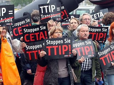 Anti-TTIP protests in Berlin