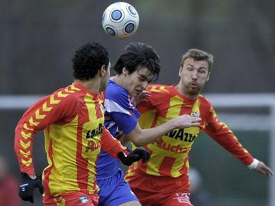 Laurent Guthleber (à droite) sous le maillot dudelangeois. Son club de cœur.