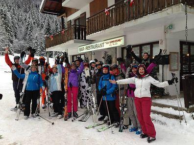Last year's Irish Club of Luxembourg's ski trip