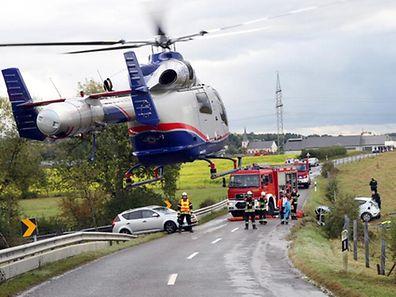 27.09.12 Unfall Godbrange-Junglinster. Foto:Gerry Huberty