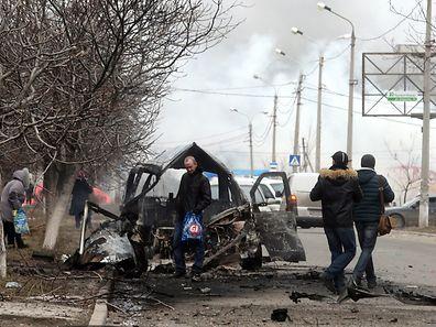 Marioupol le 24 janvier 2015