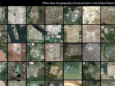 Auf der Website http://prisonmap.com hat ein US-Student Luftbilder der meisten US-Haftanstalten veröffentlicht.