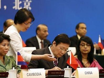 O ministro das Finanças chinês